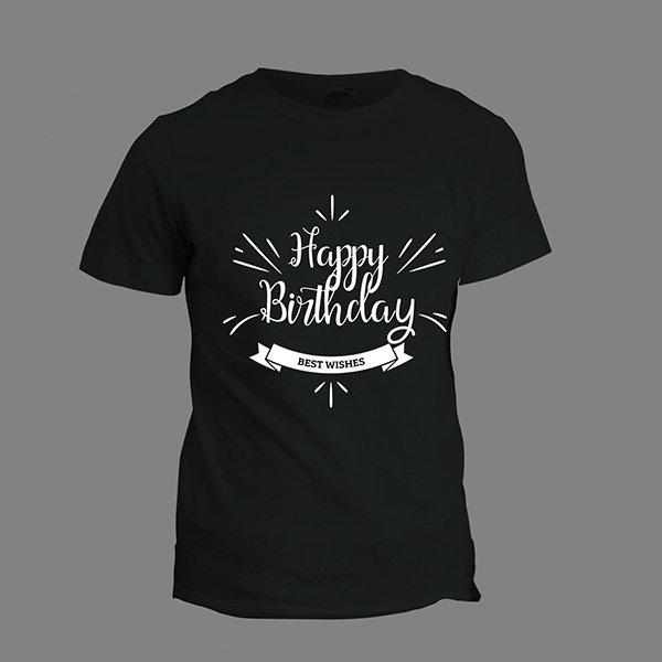 Happy Birthday T-Shirt Black